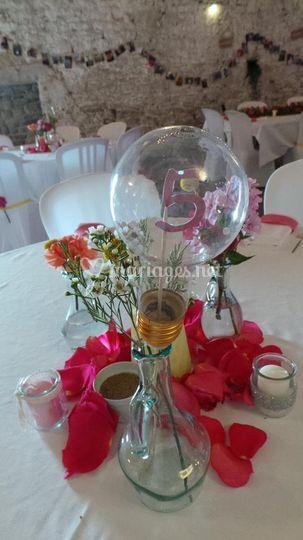 Centre de table des invités