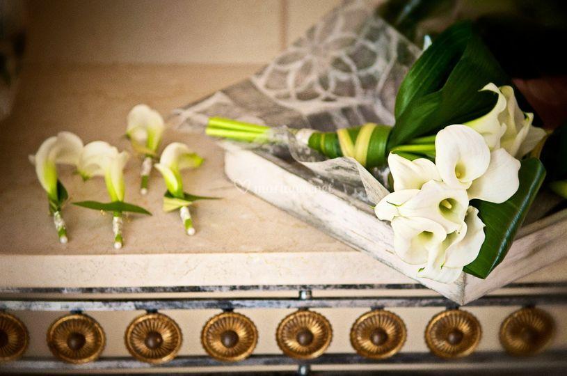 Bouquet mariée, boutonnière, art floral mariage