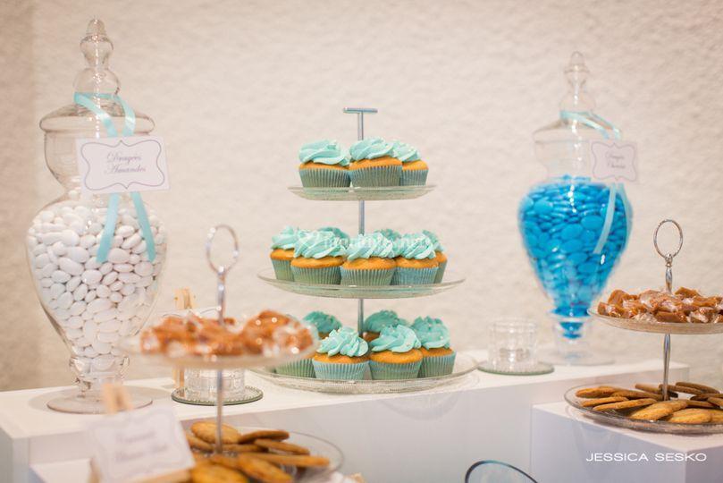 Candy bar bleu turquoise