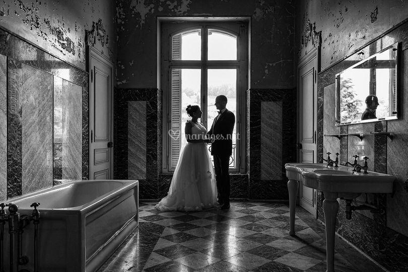 Photo de couple au manoir