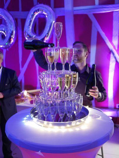 La fontaine à champagne