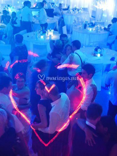 Le laser en forme de coeur