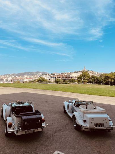 Provence luxury car wedding