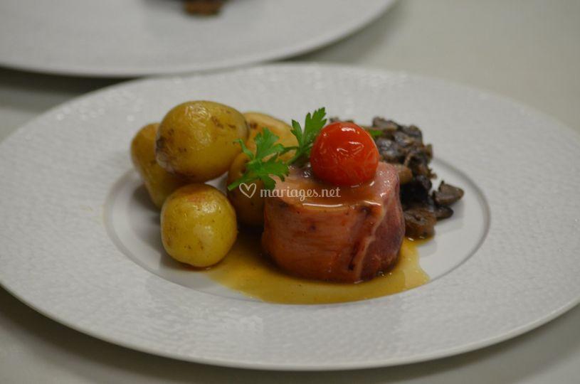 Canon d'agneau au foie gras