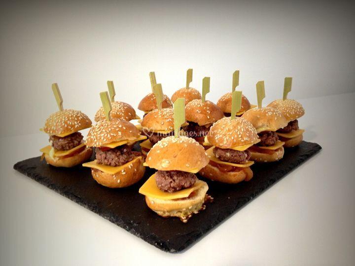 Mini burgers maison