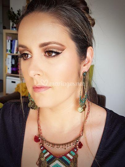 Maquillage libanais invitée