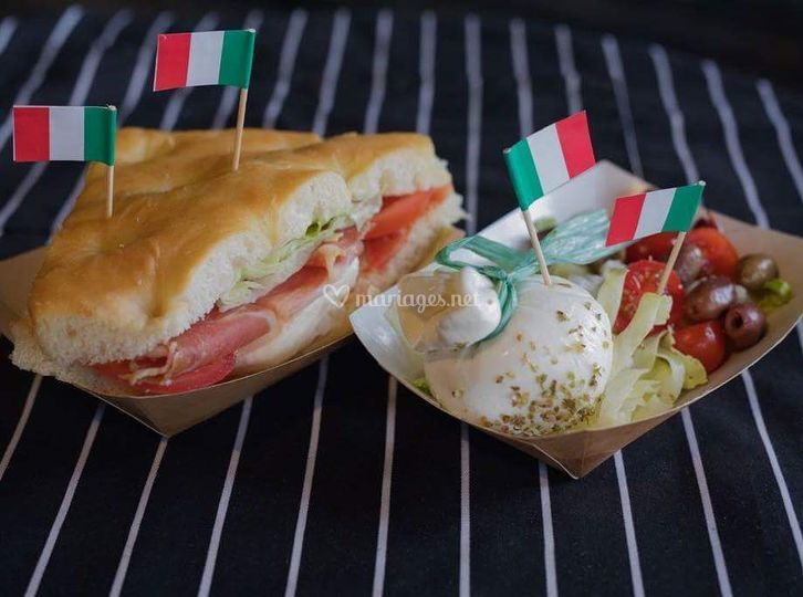 Focaccia et Burrata