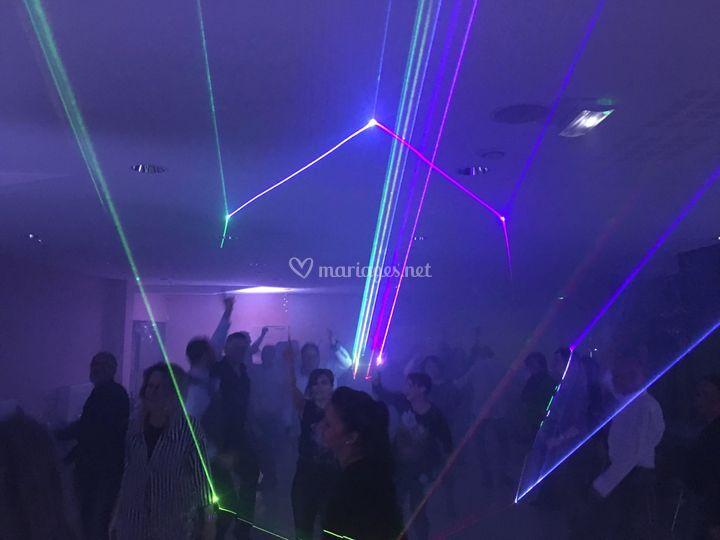 Show laser 1 Watt en soirée