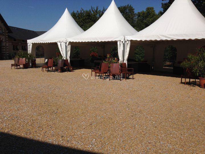 Les tentes pour le cocktail