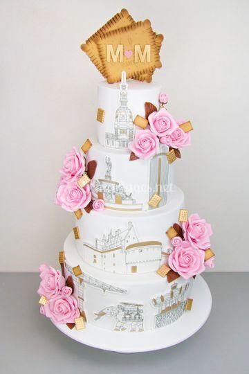 Cake Révol - Nantes en Roses