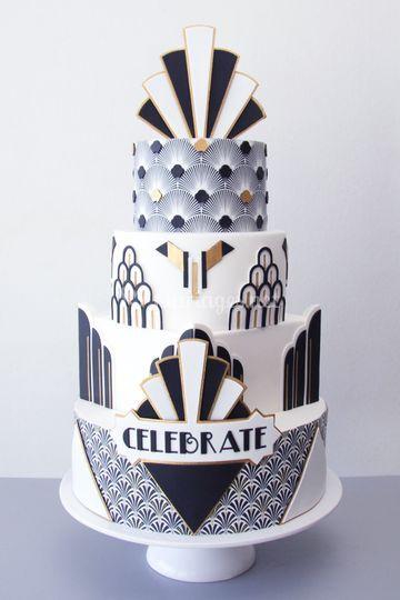 Cake Révol - mariage Gatsby