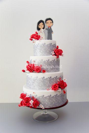 Cake Révol - les mariés