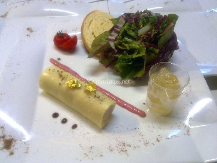 Canelloni de foie gras