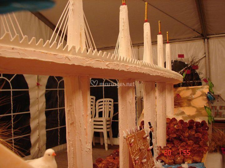 Pont de Millau en sucre