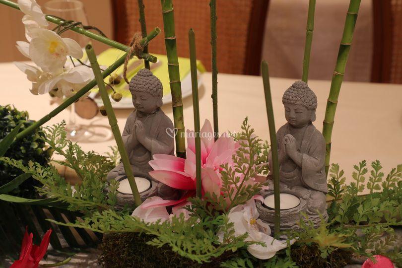 Thème zen à l'exposition