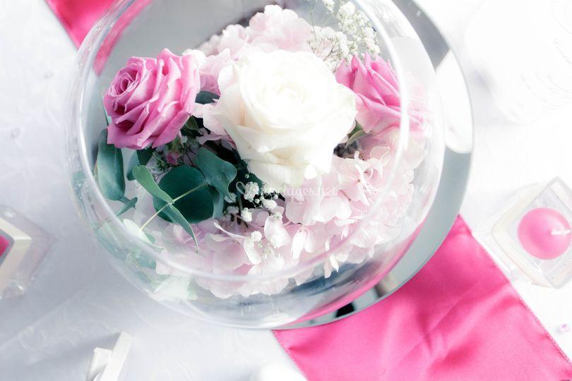 Photophore fleuri