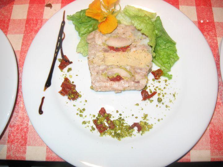 Terrine foie gras caile