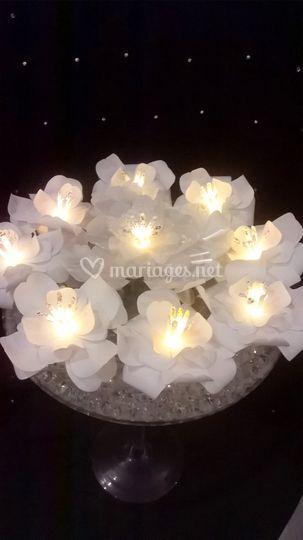Fleurs lumineuses à LED