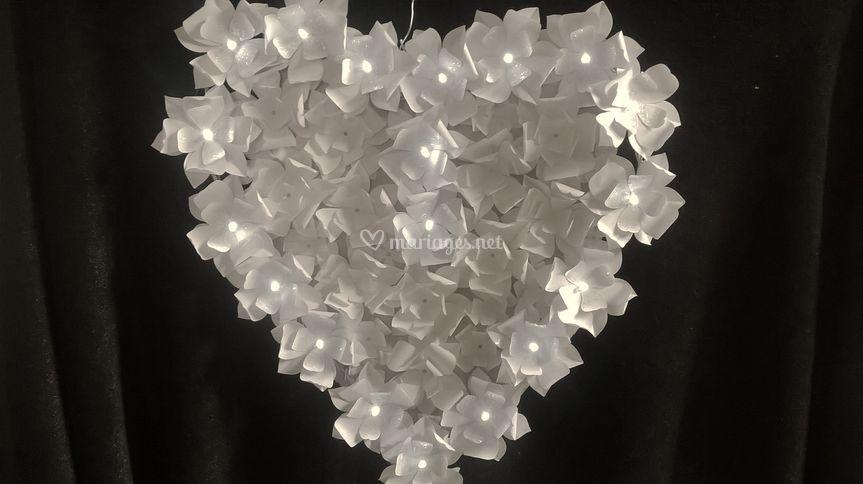 Coeur fleurs lumineuses led
