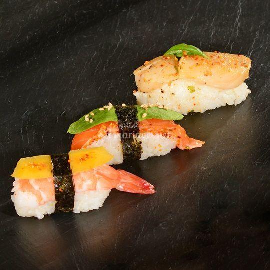 sushi Crevette, st jaques