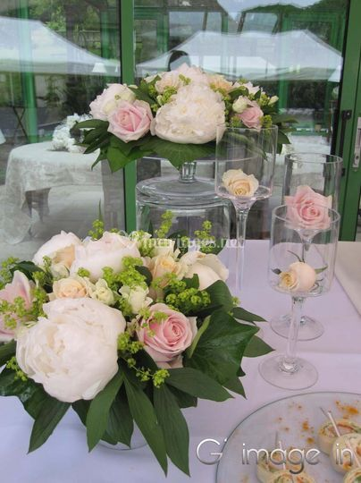 Centre de table roses