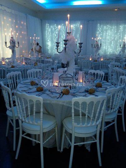 Table thème romantique