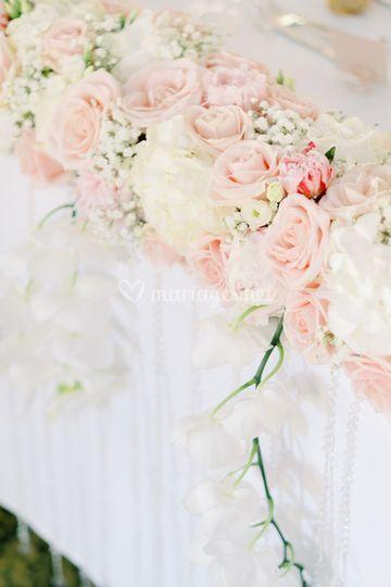 Compo florale table d'honneur