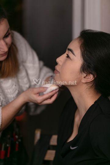 Maquillage glowy