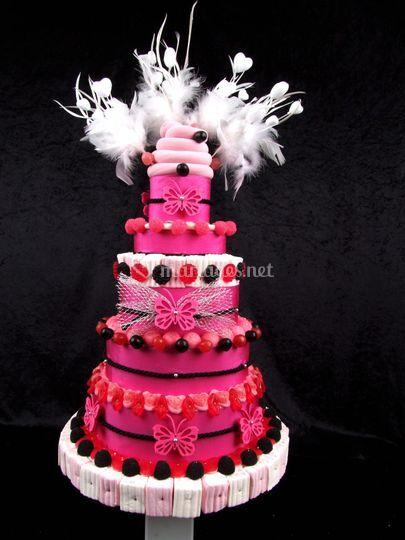 Gâteau de bonbons mariage de Miss Paradis  Photos