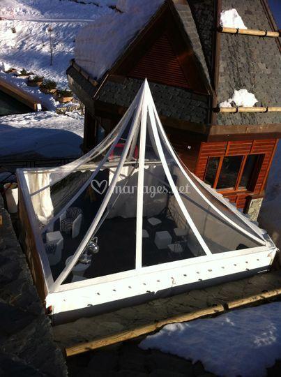 Pagode au toit cristal