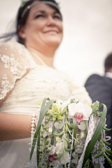 Bouquet manchon de mariée