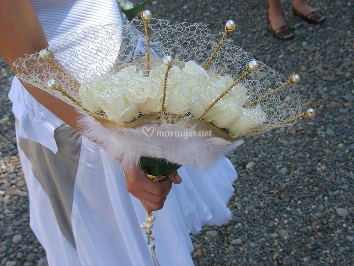 Bouquet éventail de mariée