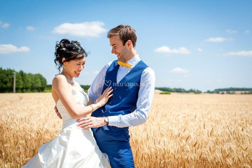 Jeanine&David dans les blés