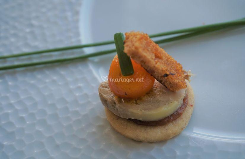 Sablé foie gras