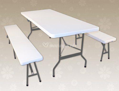 Table 1,83 et banc pliant 1,83