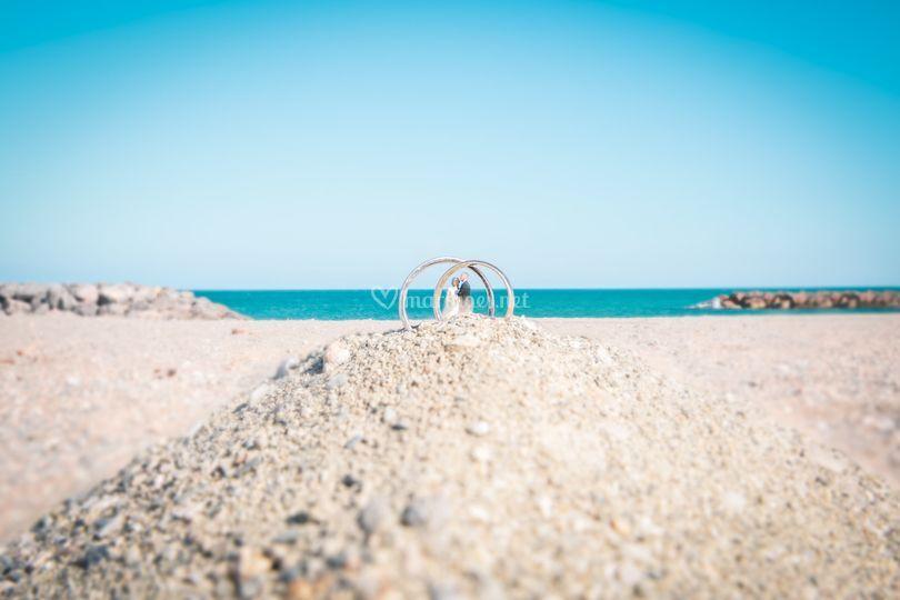 Couple à la plage