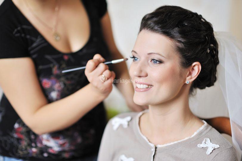 Préparation maquillage
