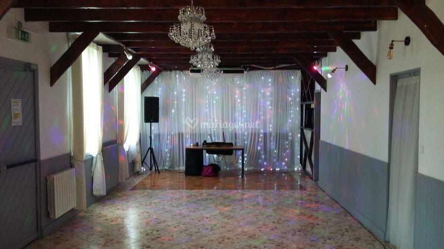 Salle réception rénovée