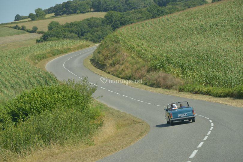 Mariés en route vers Biscay