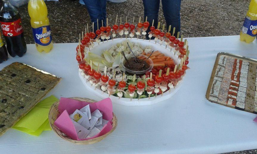 Anchoïade et légumes crus