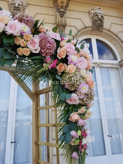 Décoration florale romantique