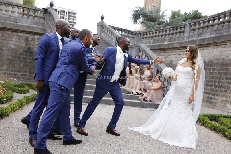 Mariés et témoins