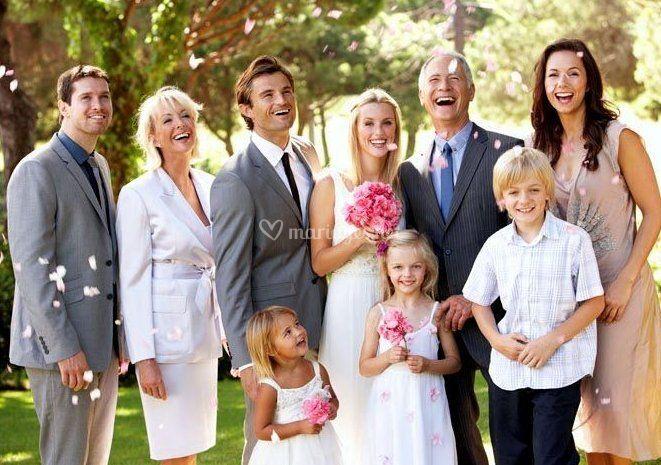 La mariée et ses amis
