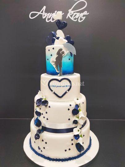 Romantique photo gâteau
