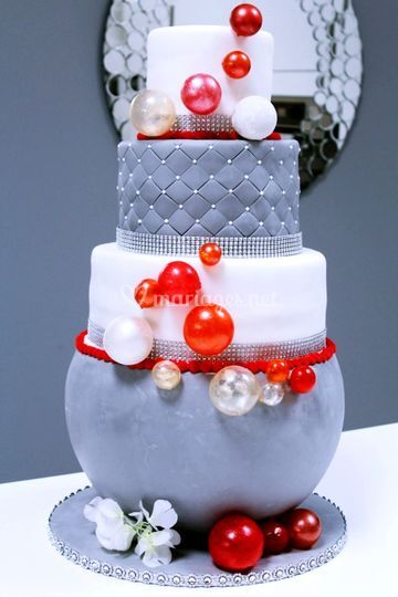 Bulles gâteau de mariage