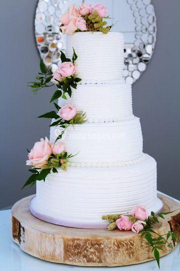 Champêtre gâteau mariage