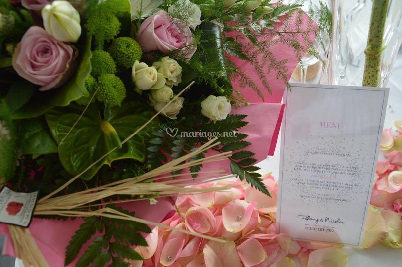 Menu, bouquet
