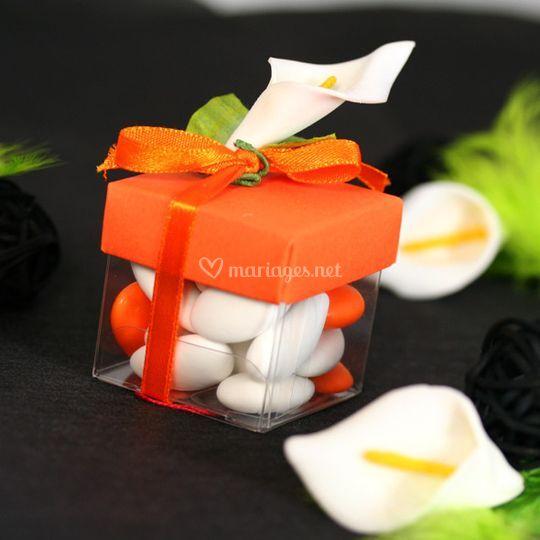 Boites à dragées orange