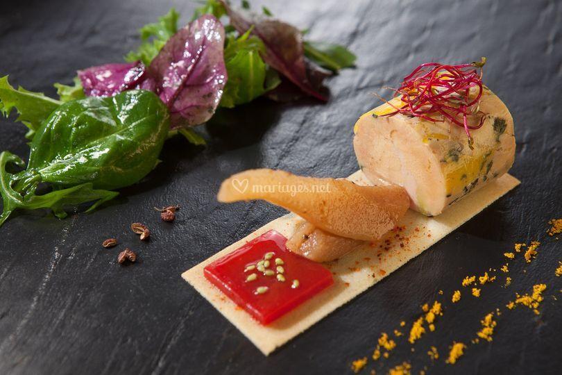 Foie gras infusé thym citron
