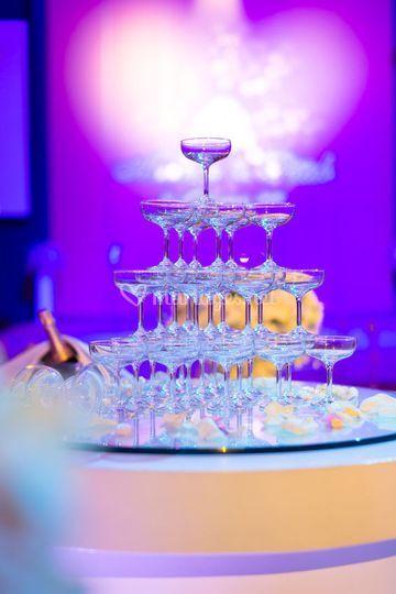 Eclairage fontaine champagne
